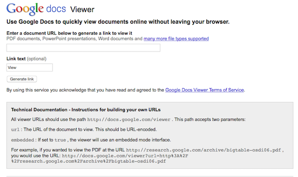 Google Docs Viewer Page No Longer Available